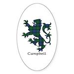 Lion - Campbell Sticker (Oval 50 pk)