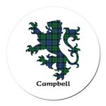 Lion - Campbell Round Car Magnet