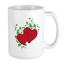 Double Red Hearts wtih Ivy Mugs