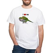 Shirt with Quaker parrot