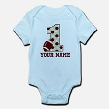 1st Birthday Football Body Suit
