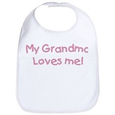 """My grandma loves me!"" [pink] Bib"