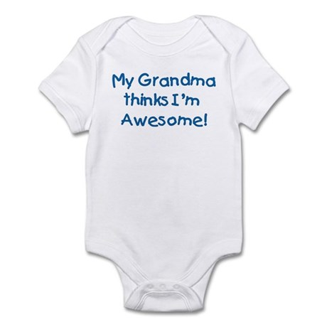 """My grandma thinks I'm awesome!"" [blue] Infant Cre"