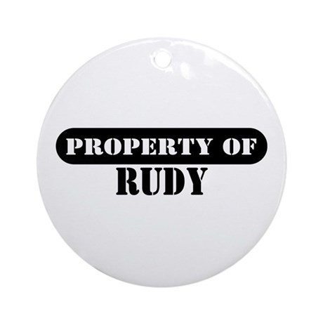 Property of Rudy Ornament (Round)
