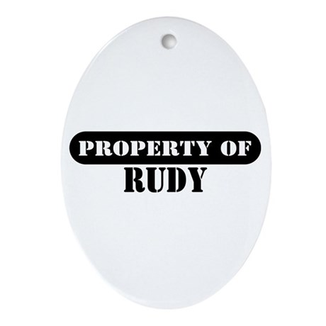 Property of Rudy Oval Ornament