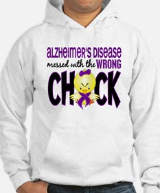 Alzheimer's Messed With Wrong Chick Hoodie