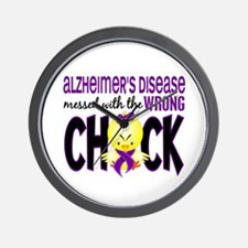 Alzheimer's Messed With Wrong Chick Wall Clock