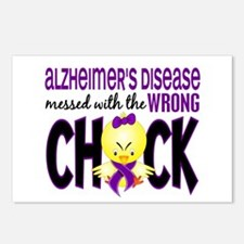 Alzheimer's Messed With Wrong Chick Postcards (Pac