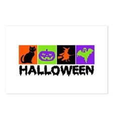 Halloween Blocks Postcards (Package of 8)
