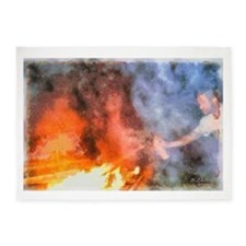 Rage The Fire That Burns Within 5'x7'Area Rug