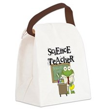 Frog Science Teacher Canvas Lunch Bag