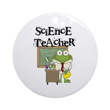 Frog Science Teacher Ornament (Round)
