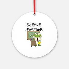 Frog Science Teacher Ornament (Round)