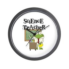 Frog Science Teacher Wall Clock