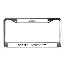 Scaper U License Plate Frame