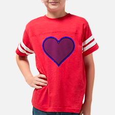 neon heart Youth Football Shirt