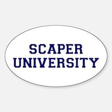 Scaper U Oval Decal