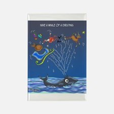 Have A Whale Of A Christmas Rectangle Magnet