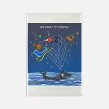 Have A Whale Of A Christmas Rectangle Magnet (10 p