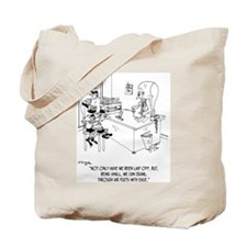 Elves Crawl Through Air Ducts Tote Bag