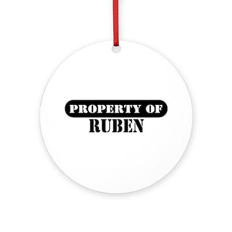 Property of Ruben Ornament (Round)