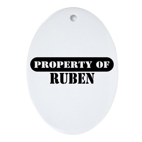 Property of Ruben Oval Ornament