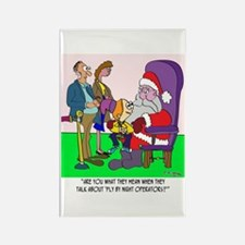 Santa a Fly by Night Operator? Rectangle Magnet