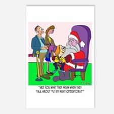 Santa a Fly by Night Operator? Postcards (Package