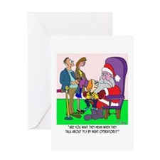 Santa a Fly by Night Operator? Greeting Card