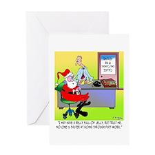 Santa Can Get Through Duct Work Greeting Card