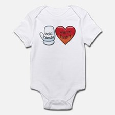 Funny Cold Hands Warm Heart Infant Bodysuit
