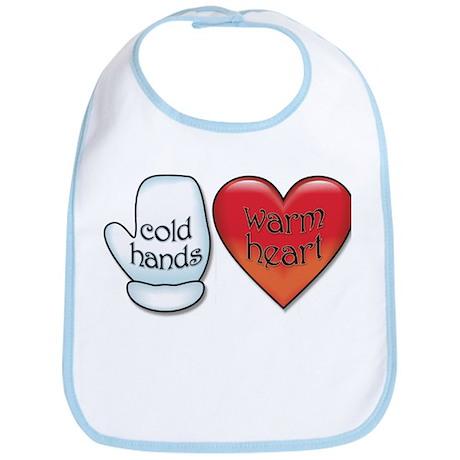 Funny Cold Hands Warm Heart Bib
