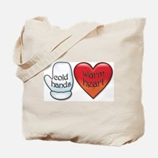Funny Cold Hands Warm Heart Tote Bag