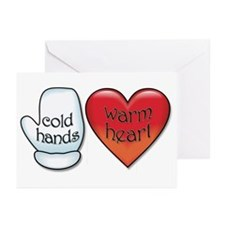 Funny Cold Hands Warm Heart Greeting Cards (Pk of