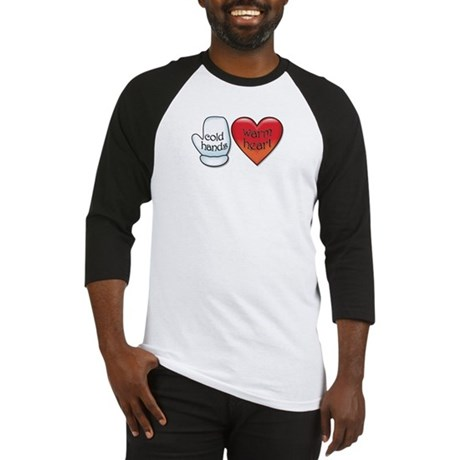 Funny Cold Hands Warm Heart Baseball Jersey