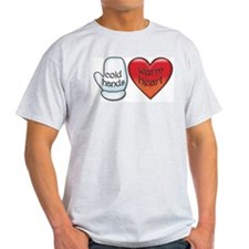 Funny Cold Hands Warm Heart T-Shirt