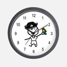 Boy & Pirate Wall Clock