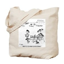 Santa Retires Tote Bag