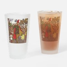 Vintage Pied Piper Fairy Tale  Drinking Glass
