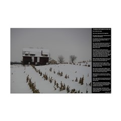 American Snow Barn Rural Poster