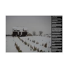 American Snow Barn Rural Poster