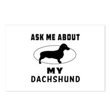 Ask Me About My Dachshund Postcards (Package of 8)