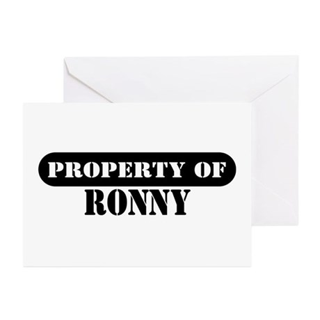 Property of Ronny Greeting Cards (Pk of 10)
