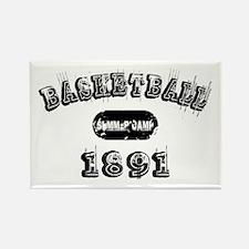 1891 Basketball Rectangle Magnet