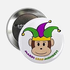 Mardi Gras Monkey Button