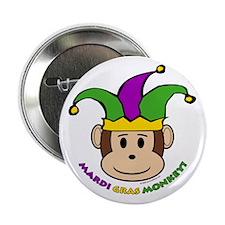 "Mardi Gras Monkey 2.25"" Button (10 pack)"