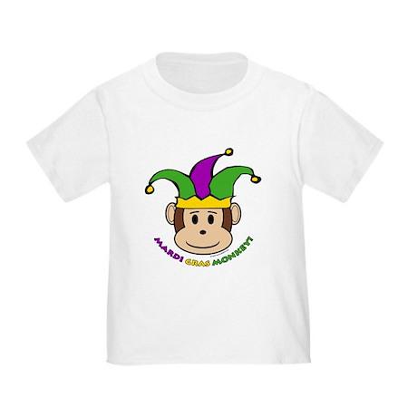Mardi Gras Ash Grey Toddler T Shirt Mardi Gras Monkey T
