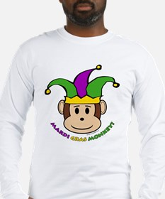 Mardi Gras Monkey Long Sleeve T-Shirt