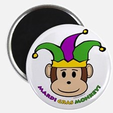 "Mardi Gras Monkey 2.25"" Magnet (100 pack)"