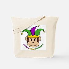 Mardi Gras Monkey Tote Bag